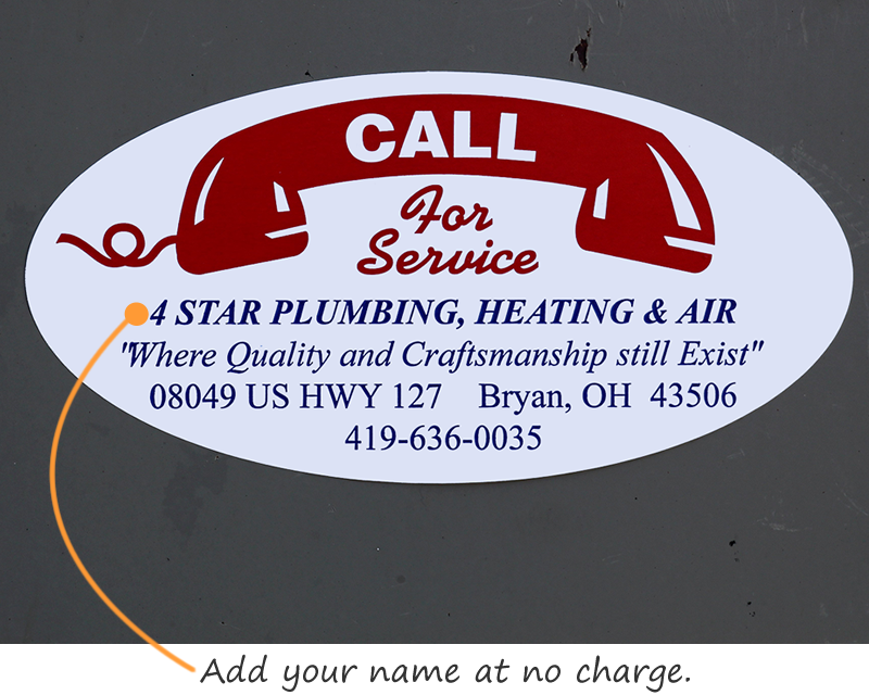 Call For Service Stickers Advertising Labels