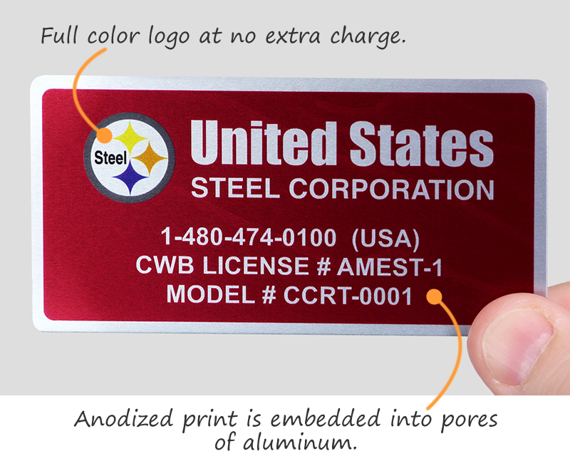 Full color logo at no extra charge