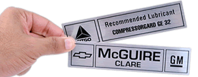 Metallized Mylar Labels