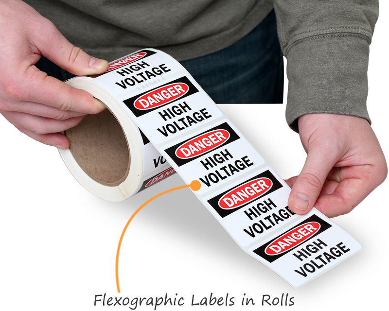 Vinyl roll labels