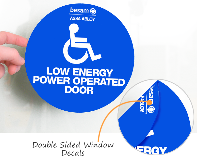 Double Sided Window Decals Free Shipping From Labellab