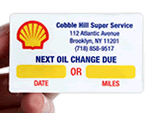 Oil Change Service Stickers