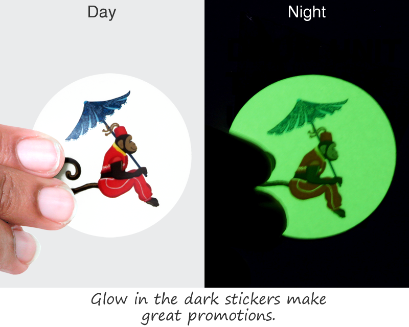 Custom Glow In The Dark Stickers Free Shipping From Labellab