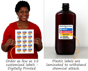 Custom labels with overlaminate