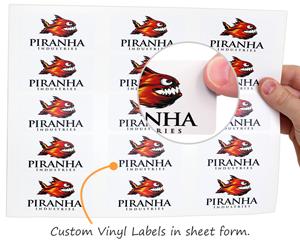 Digital labels in sheet form