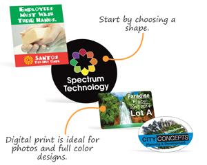 Full color label shapes