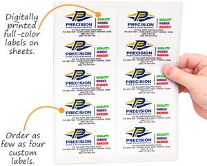 Full color sheet labels