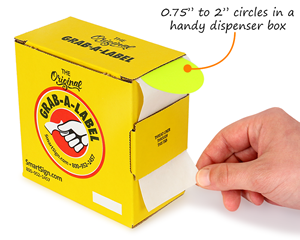 "O.75"" to 2"" circles in a handy dispenser box"