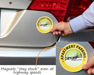 Magnetic Labels for parking