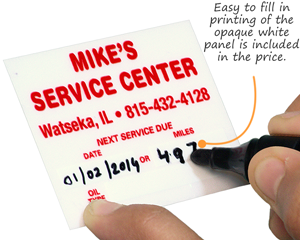 Oil Change Stickers & Service Reminders