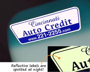 Reflective Car Dealer Sticker