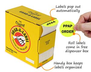 Fluorescent Roll Label Dispenser Box