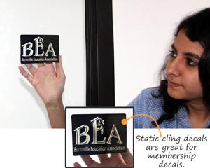 Static Cling membership decal