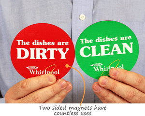 Two Sided Magnetic Labels