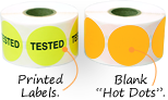 Blank & Preprinted Fluorescent Labels in Stock