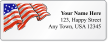 Custom Address Label With American Flag Symbol