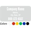 Custom Company Name and Address, Single-Sided Label