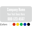 Customizable Company Name and Number, Single-Sided Label