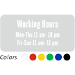 Customizable Working Hours, Single-Sided Label