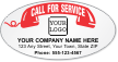 Custom Call for Service Label with Logo