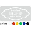 Customized Name and Number, Designer Single-Sided Label