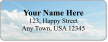 Personalized Address Label With Puffy Clouds Symbol