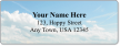 Custom Address Label With Puffy Clouds Graphic