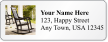 Personalized Address Label With Old Rocking Chair Symbol