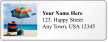 Custom Address Label With Seaside Beach Chairs Symbol