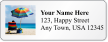 Personalized Address Label With Seaside Beach Chair Graphic
