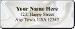 Custom Address Label With White Satin Wave Symbol