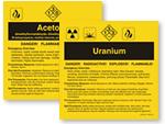 ANSI Chemical Labels