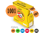 Custom Fluorescent Colored Number Labels