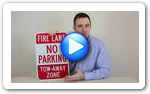 No Parking Fire Lane Signs - Video