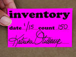 Fluorescent Inventory Labels