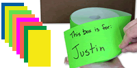 Colored Rectangles Labels