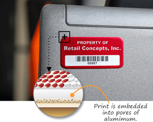 Annodized Barcodes Labels Instant Quote
