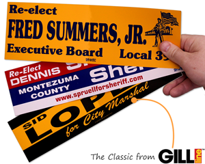 Bumper Stickers from Gill