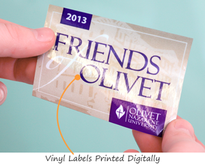 Digitally printed vinyl labels