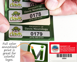 Full Color Annodized Print Labels