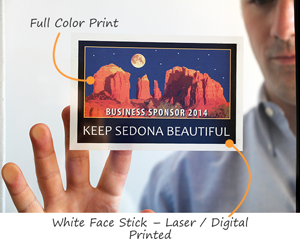 Full color static cling label