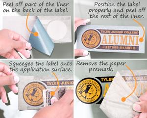 Installing a vinyl die cut sticker