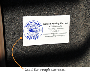 Used for rough surfaces