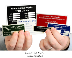 Anodized Metal Nameplates