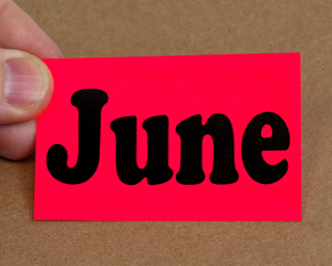 Color coded label for June