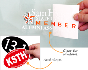 Oval And Clear Shape Bumper Stickers
