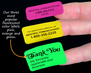 Pink, Orange and Green Fluorescent Labels
