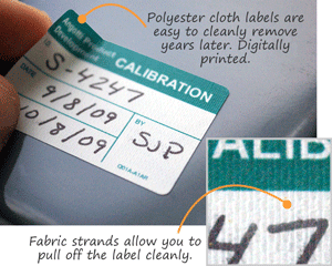 Polyester cloth labels
