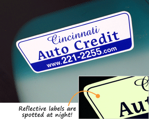 Reflective Car Dealer Sticker