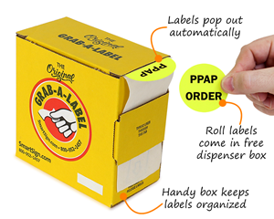 Fluorescent Roll Label Dispenser Box